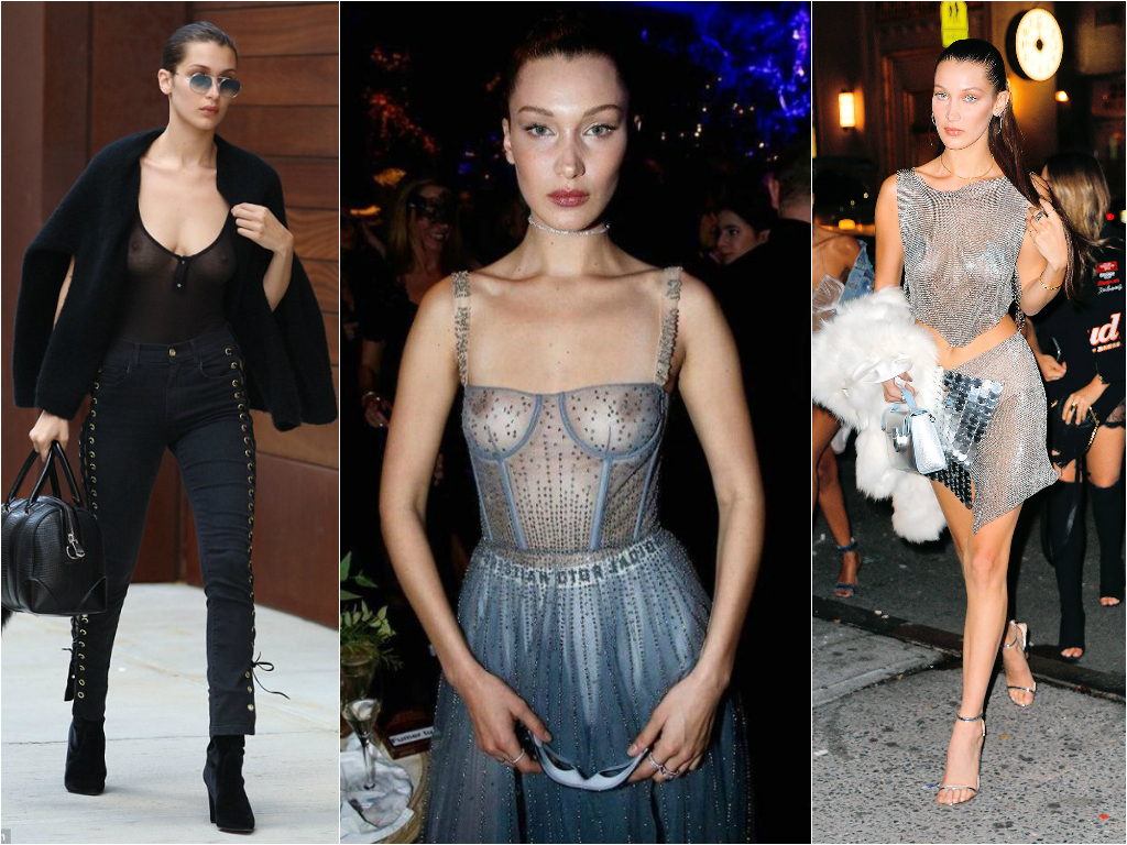 Braless Celebrities_bella hadid