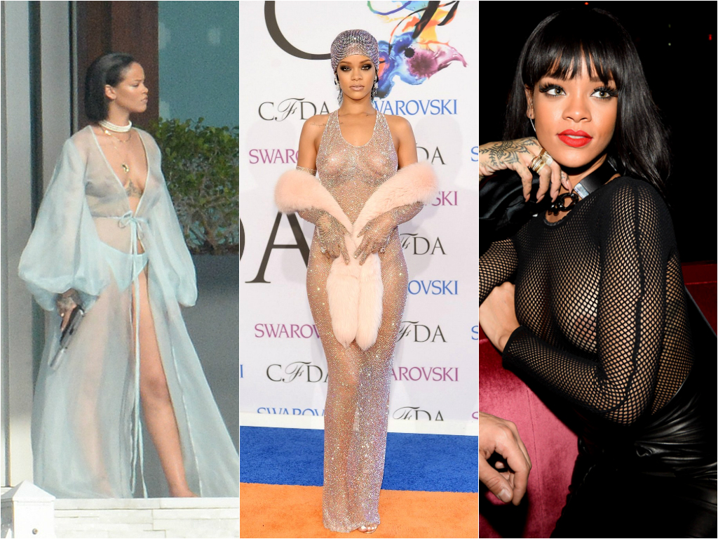 Braless Celebrities_rihanna 1