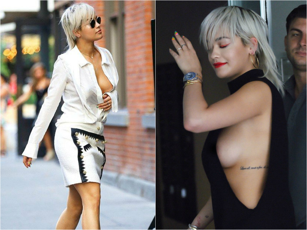 Braless Celebrities_rita ora 2