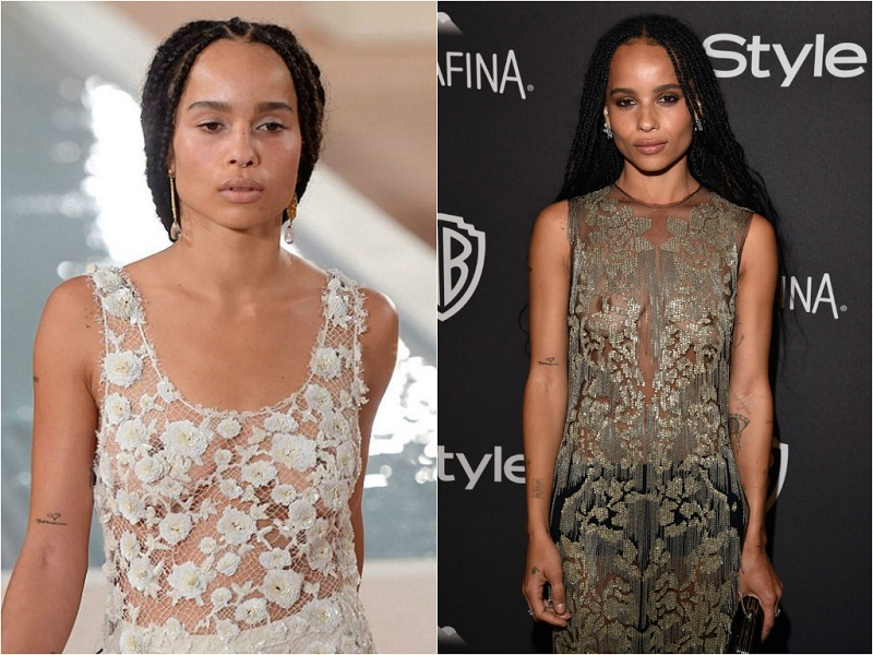 Braless Celebrities_zoe kravitz