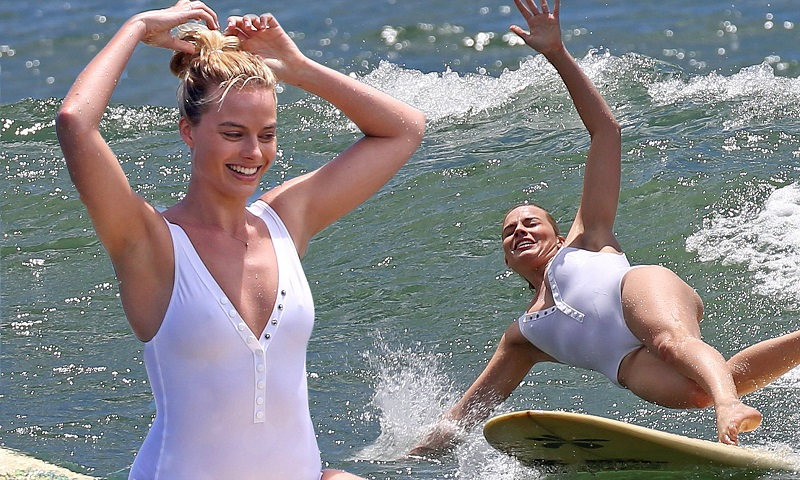 7 Famous Beauties Surfing In Sexy Bikinis_front