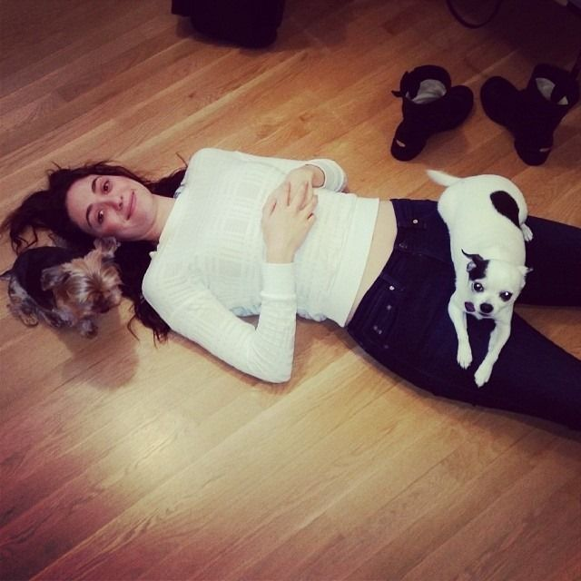 Hot Female Celebs With Their Pets_Emmy Rossum 1