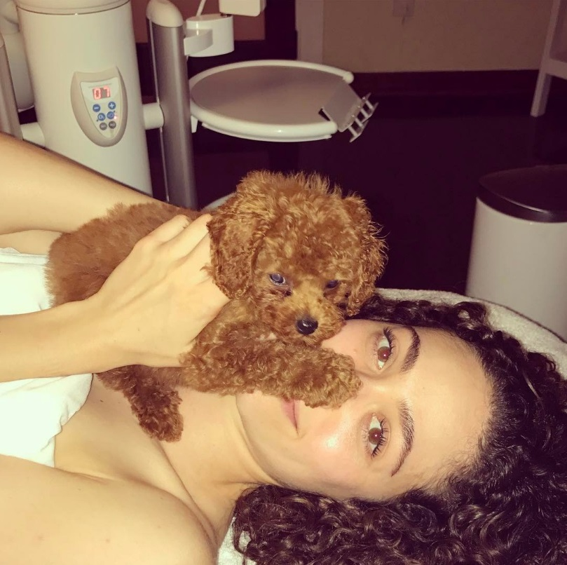 Hot Female Celebs With Their Pets_Emmy Rossum 2