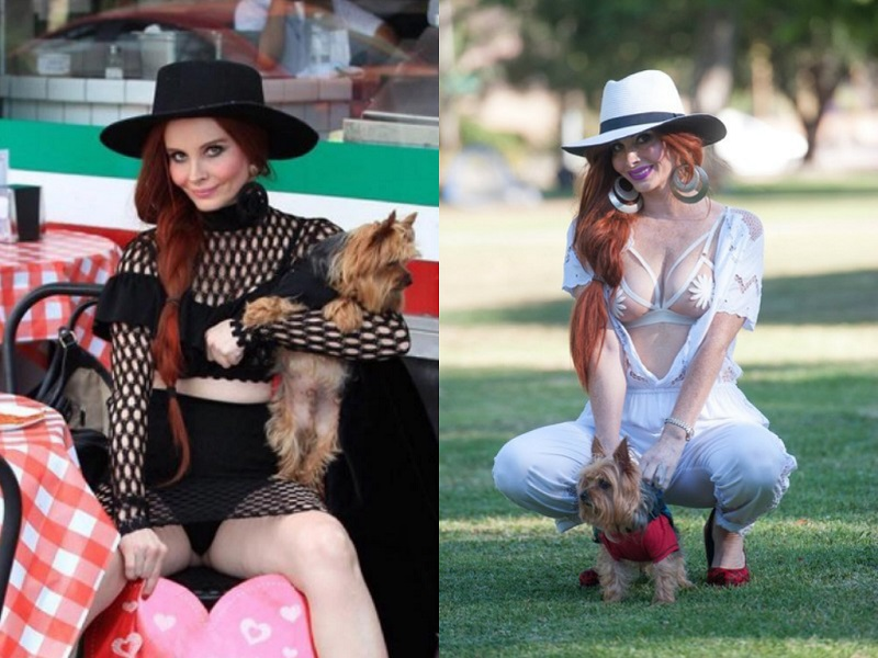 Hot Female Celebs With Their Pets_Phoebe Price