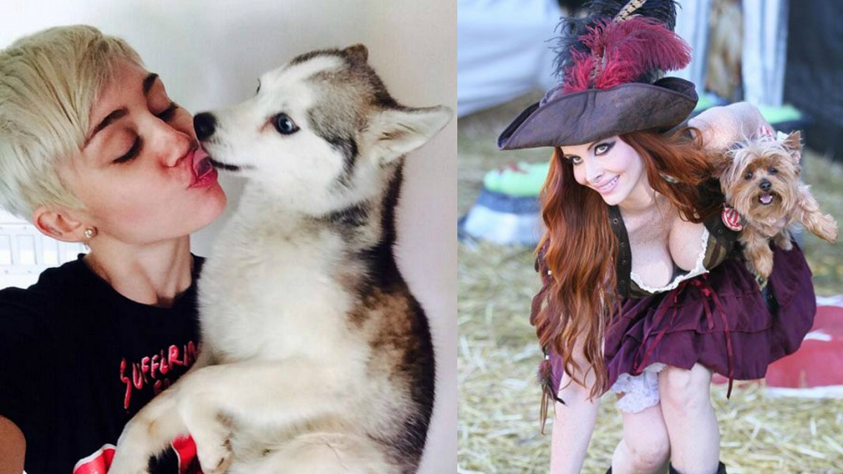 Hot Female Celebs With Their Pets_preview