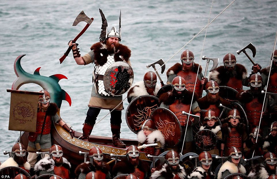weirdest festivals_up helly aa