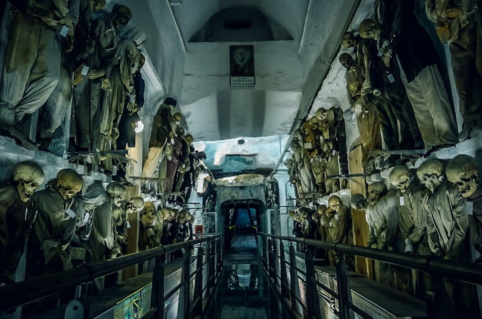 scariest places on earth_catacombs of the capuchins italy