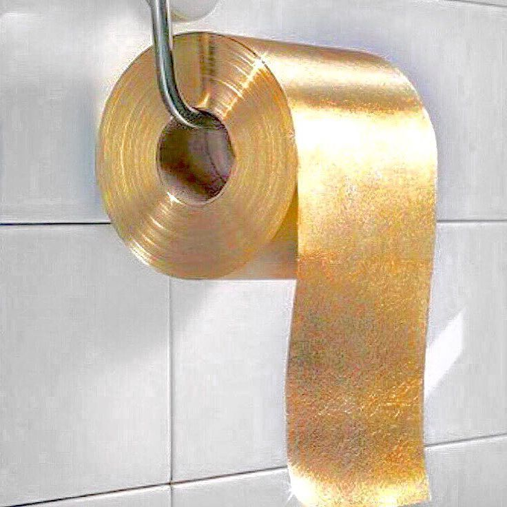 made of pure gold_toilet paper