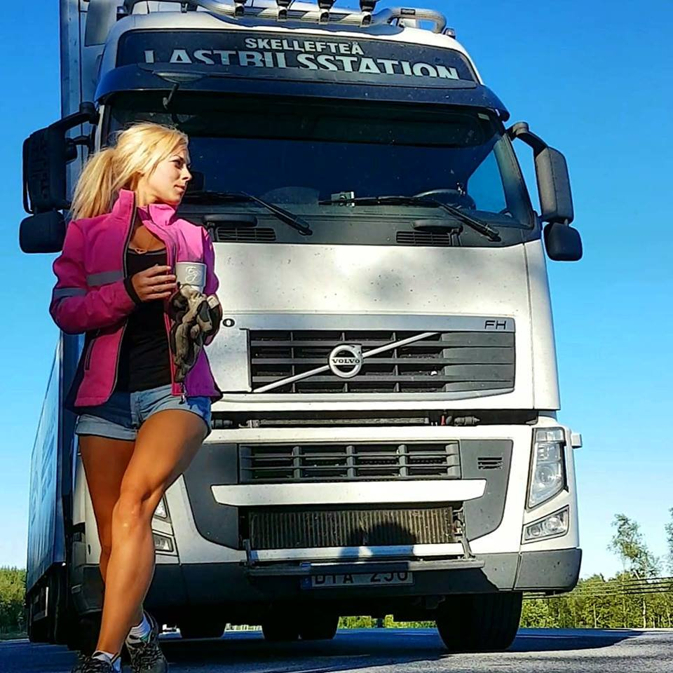 Angelica Larsson - Swedish girl | This truck driver will steal your heart | Top Banger